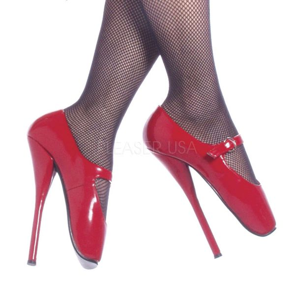 BALLET-08 rot Lack     Ballett High Heel Pumps rot Lack aus der Devious Kollektion von Pleaser USA